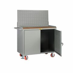 Little Giant Mobile Bench Cabinets with Pegboard or Louvered Panel Doors With Pegboard or Louvered Top Panel MHLPDFLLP