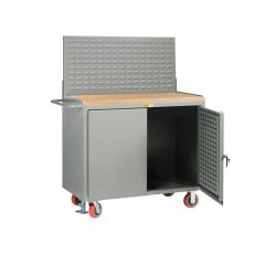 Little Giant Mobile Bench Cabinets with Pegboard or Louvered Panel Doors With Pegboard or Louvered Top Panel MJLPDFLLP