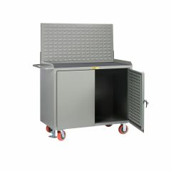 Little Giant Mobile Bench Cabinets with Pegboard or Louvered Panel Doors With Pegboard or Louvered Top Panel MMLPDFLLP
