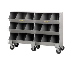 Little Giant Mobile Storage Bins with Three storage capartment per level MS315326PH