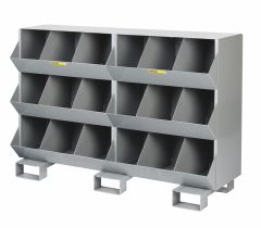 Little Giant Stationary Storage Bins with Three storage capartment per level MS31532FP