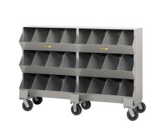 Little Giant Mobile Storage Bins with Four storage capartment per level MS415326PH