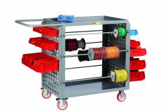 Little Giant Wire Reel Cart with Louvered Panels RLLP2436TL