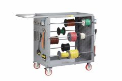 Little Giant Wire Reel Cart with Pegboard Panels RLPB2436TL