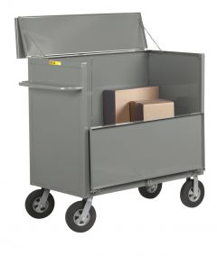 "Little Giant Security Box Truck with Solid Sides and 10"" x 2-3/4"" Solid Rubber SBS244810SR"