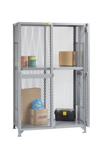 Little Giant All-Welded Storage Locker with 1 Adjustable Center Shelf SL1A2448