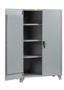 Little Giant High Capacity Storage Cabinet with Pegboard Doors and 3 Shelves SSL3A2448PBD