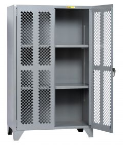 Little Giant High Visibility Storage Cabinet With 2 Shelves SSLP2A2448