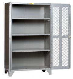 Little Giant High Visibility Storage Cabinet With 3 Shelves SSLP3A2448
