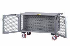 Little Giant 2-Sided Mobile Maintenance Cart with Louvered Panels ST24486PYLP