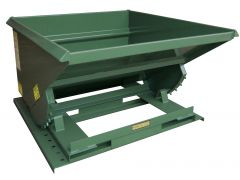 Steel Self-Dumping Hoppers Light Duty 2,000 Lb Capacity