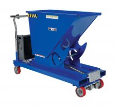 Portable Steel Hopper with Power Traction Drive