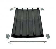 Heavy-Duty Poly Lids for 1/3 Cu Yd D-Style Self-Dumping Hoppers