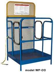 "Forklift Work Platforms 48"" x 48"" x 60"" (#WP-4848-DD-FF)"